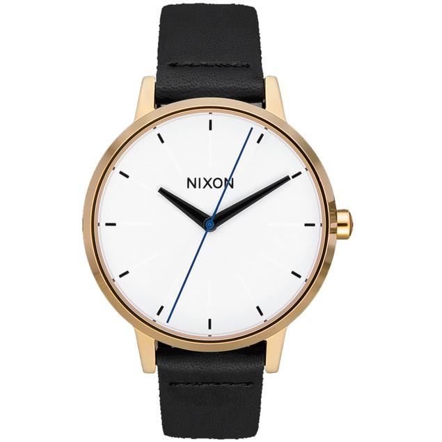 Nixon Women's Kensington Leather White Dial Watch - A108-3157