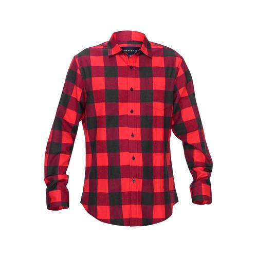 Braveman Men's Buffalo Plaid Button Down Classic Fit Flannel Shirt