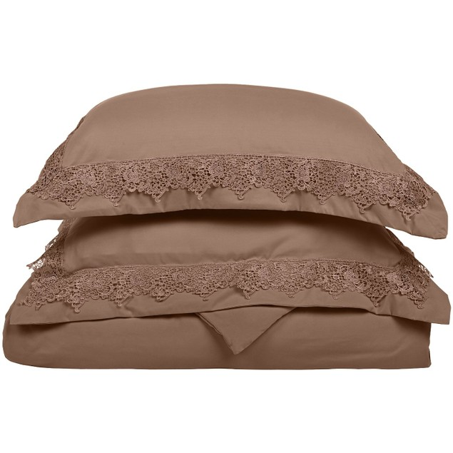 REGAL LACE Duvet Cover Set With Shams, Embroidered  Design, GIFT BOX