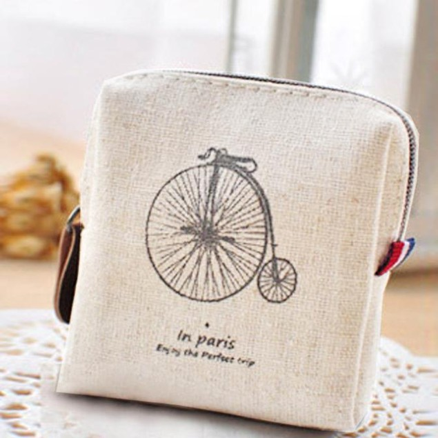 Classic Retro Canvas Purse Wallet Card Key Coin Bag Pouch Case