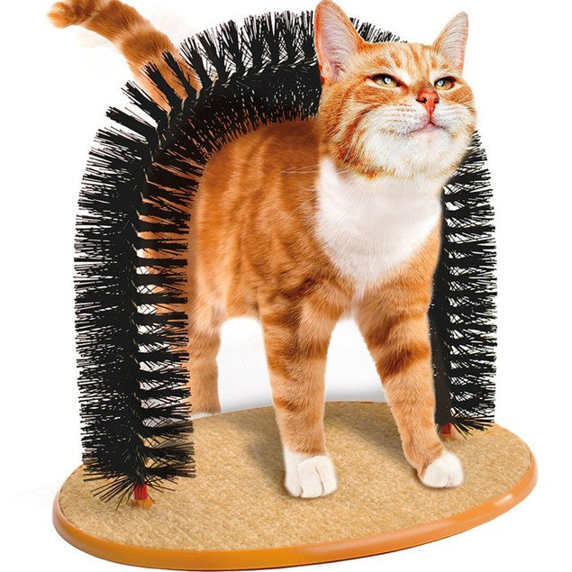 Purrfect Arch - Toy Cat Arch - Cat Grooming Tool & Scratch Pad