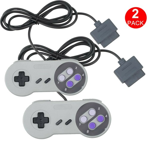 2 FOR New Super Nintendo SNES System Console Replacement Controller 6FT