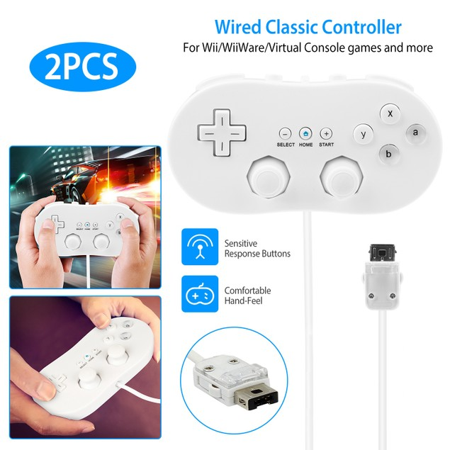 2PCS Classic Game Controller Pad Wired Gamepad