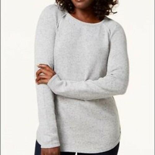 Karen Scott Women's Curved-Hem Sweater  White Size 2 Extra Large