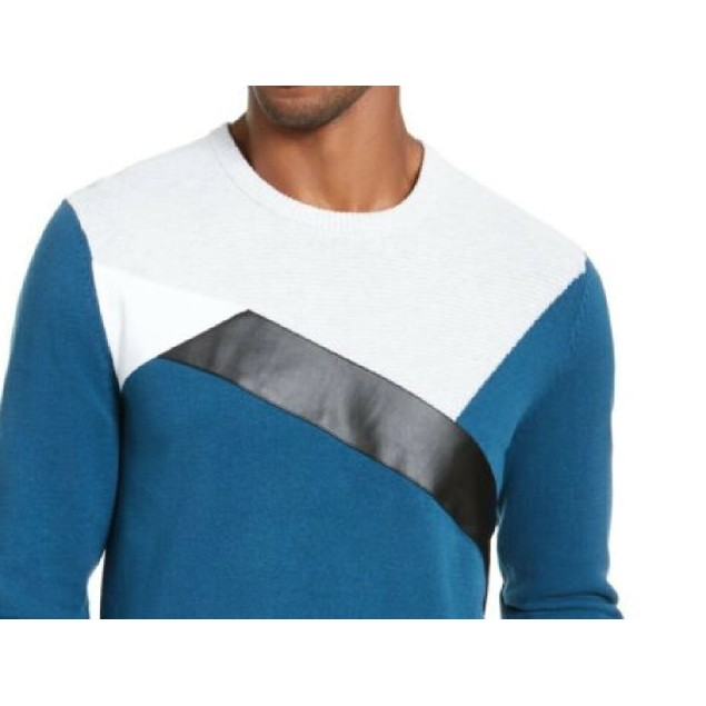 INC International Concepta Men's Colorblocked Sweater Blue Size Extra Large