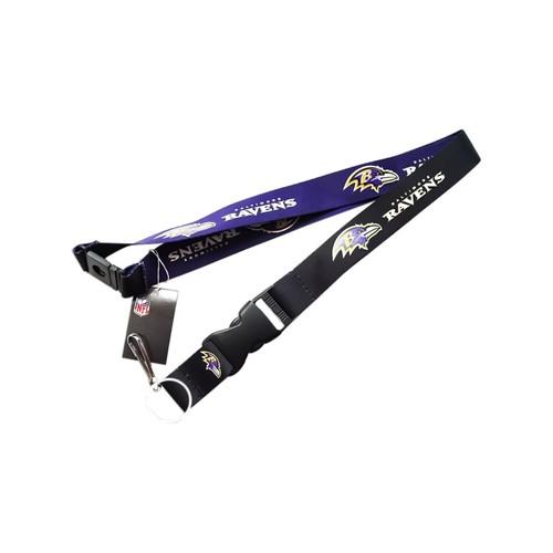 Baltimore Ravens Clip Lanyard Keychain Id Holder Ticket - Black