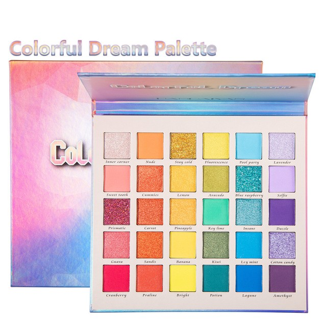 30 Colors Pearly Matte Glitter Eyeshadow Palette Make-up Dream Rainbow Palette