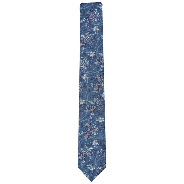 Bar III Men's Edison Skinny Floral Tie Navy Size Regular