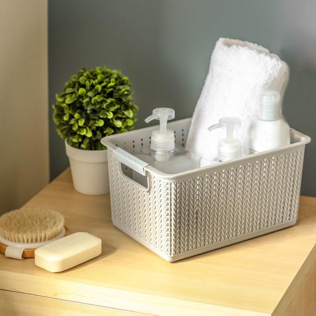 Plastic Storage Boxes - Set of 5 | Pukkr Grey