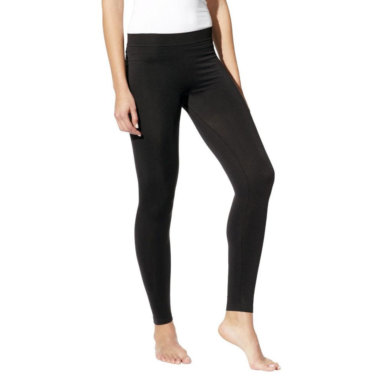 24442971ff4b5 Hanes Women's Long 'n Lean Black Leggings - Tanga