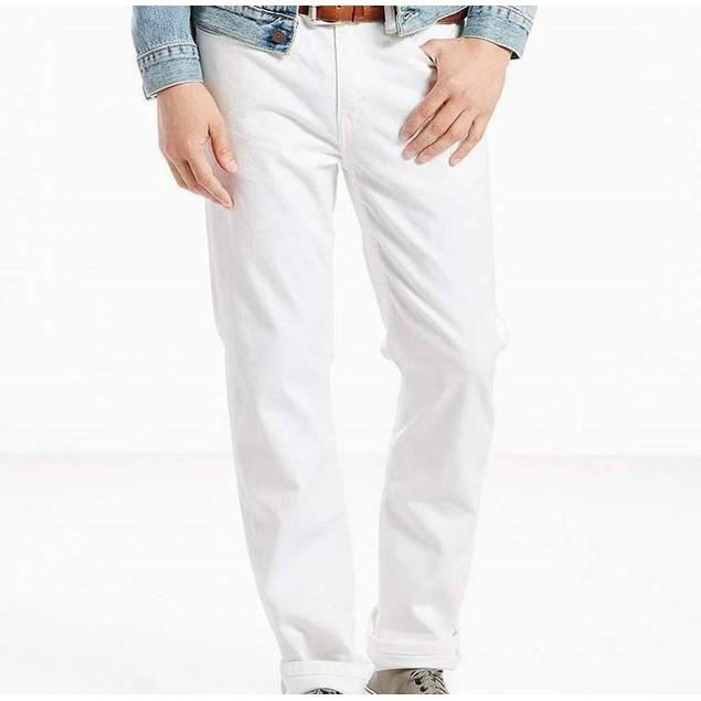 Levi's Men's 514 Straight Fit Jeans White Size 34X34