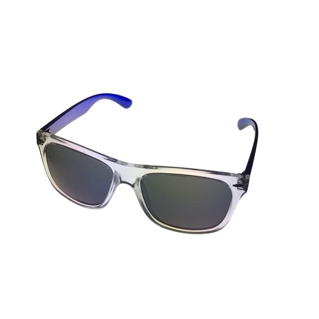 Kenneth Cole Reaction Mens Square Clear Blue Sunglass Gradient KC1240 26C