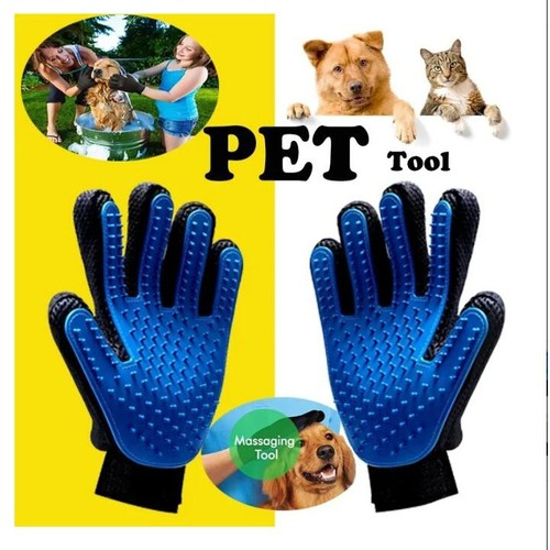 2-Pack Pet Bath Gloves Silicone Remove Hair Dirt and Massage Brush