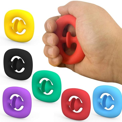 3 Pack: Stress Relieving Snapper Fidget Toy (Assorted Colors)