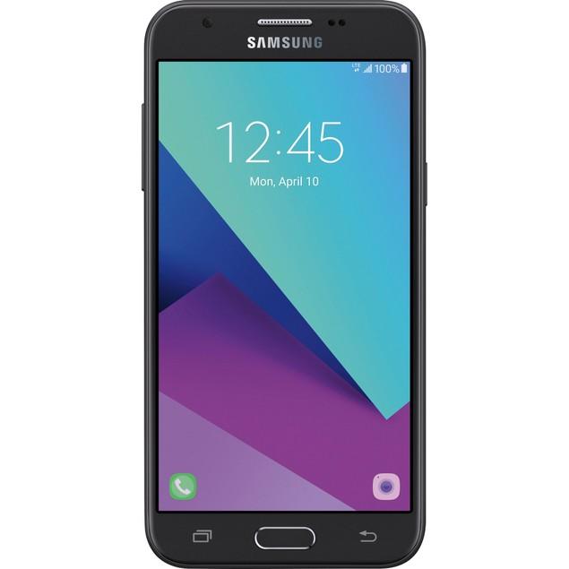 Samsung Galaxy J3 (2017), Tracfone, Black, 16 GB, 5 in Screen
