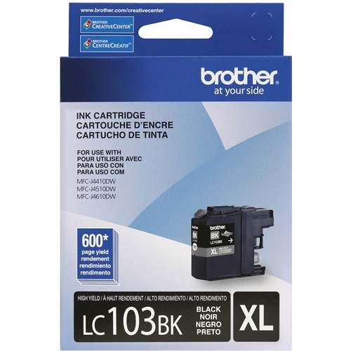 Brothers Brother LC-103BKS Genuine LC103BK High Yield XL Black Ink Cartridge