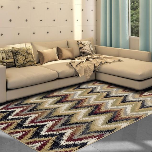 Zigzag Modern Chevron Indoor Area Rug