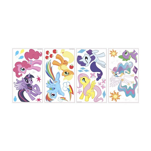 Roommates Nursery Baby Room Wall Decorative My Little Pony Wall Decals