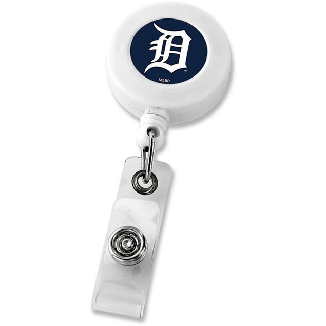 Detroit Tigers Retractable Badge Reel Id Ticket Clip MLB White