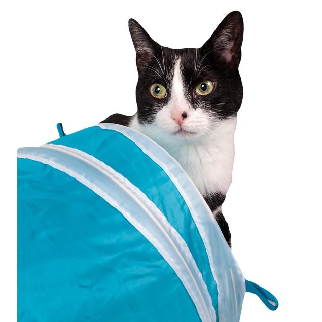 Pet Life 3-Way Kitting-Go-Seek Collapsible Passage Kitty Cat Tunnel