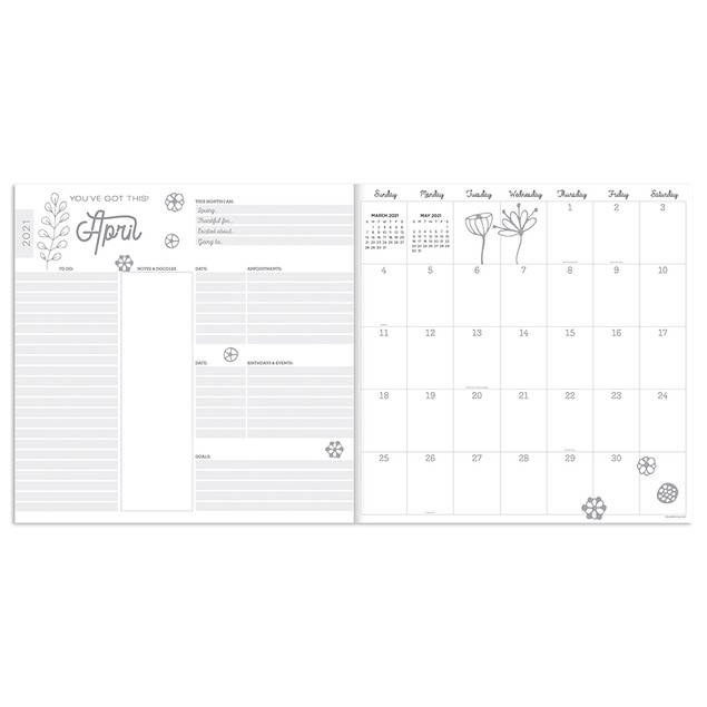 July 2020 - June 2021 Best Life Large Monthly Planners