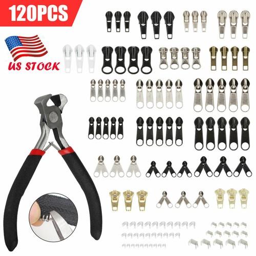 120X Zipper Replacement Zipper Repair Kit /Zipper Install Pliers for B