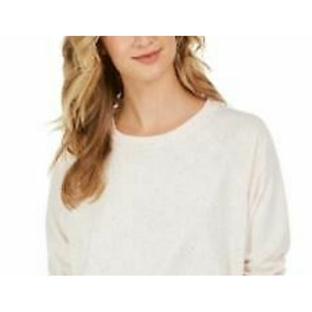 Style & Co Women's Speckled Sweatshirt white Size Extra Large