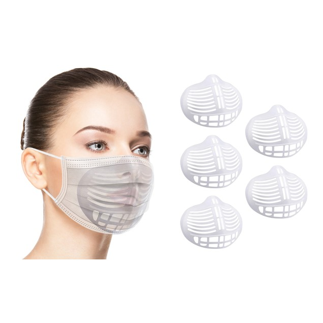 3D Bracket for Comfortable Mask Wearing (5 or 10-Pack)