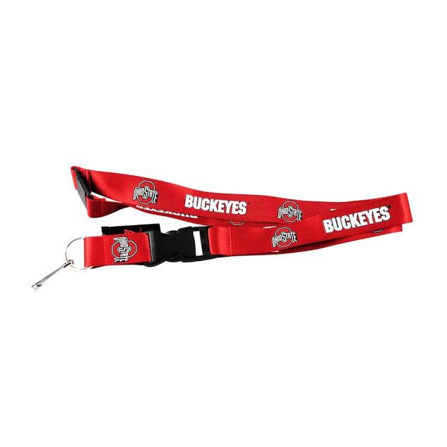 Ohio State Buckeyes Lanyard Keychain Id Holder Ticket - Red