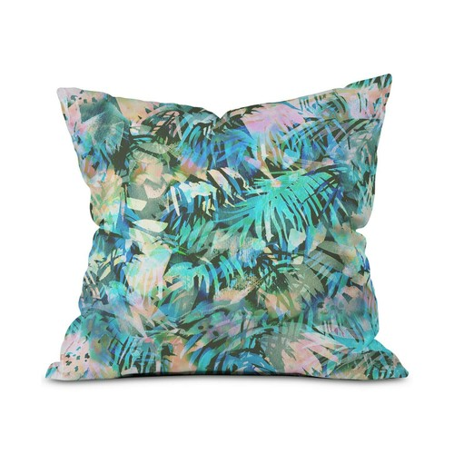 "Deny Designs San Juan Aqua 16"" Square Throw Pillow w/ Polyester Cover &"