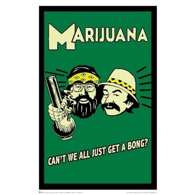 Cheech & Chong Marijuana Can't We All Just Get A Bong Poster 24 x 36
