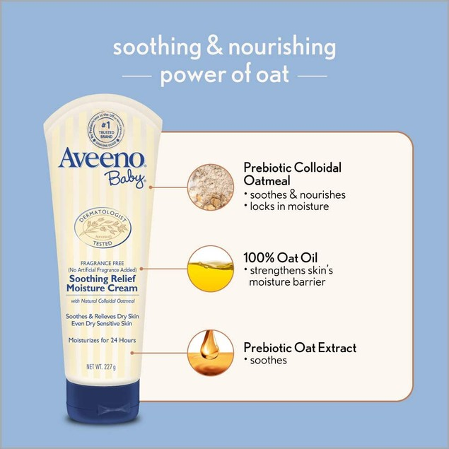 Aveeno Baby Soothing Relief Moisturizing Cream 8 oz