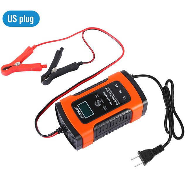 Car Battery Charger 12V 5A LCD Intelligent ATV Recover Pulse Repair