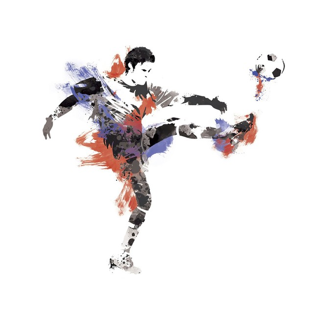 Roommates Baby Room Wall Decor Men's Soccer Champion Giant Wall Decals