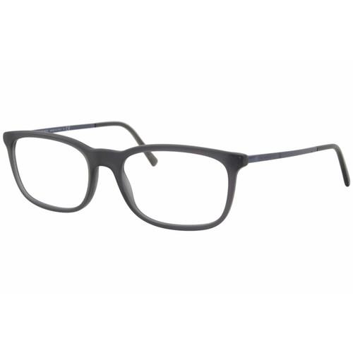 Burberry Eyeglasses Men's Matte Grey Full Rim Optical Frame 55mm