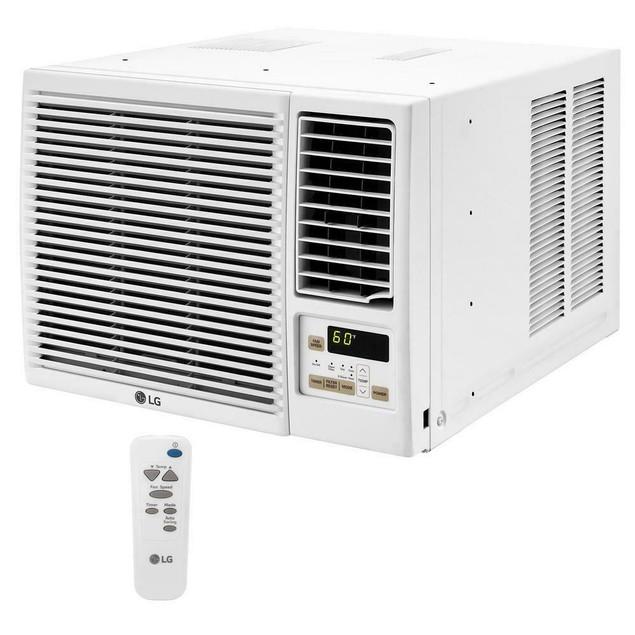 LG 7,500 BTU 115-Volt Window Air Conditioner with Heat and Remote - White