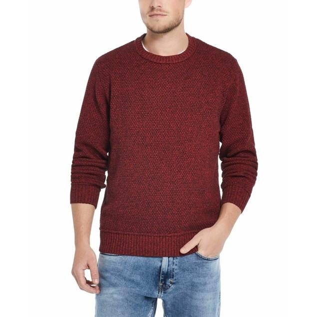 Weatherproof Vintage Men's Solid Mesh Stitch Sweater Pink Size XXX-Large