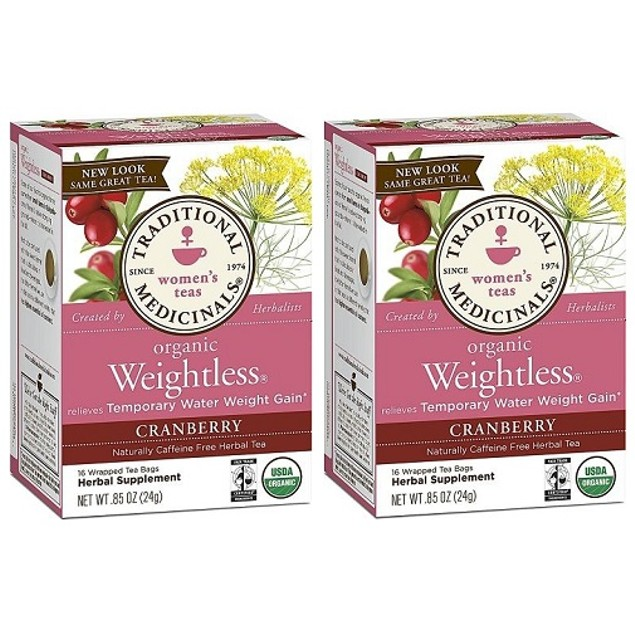 Traditional Medicinals Teas Organic Weightless Cranberry 2 Box Pack