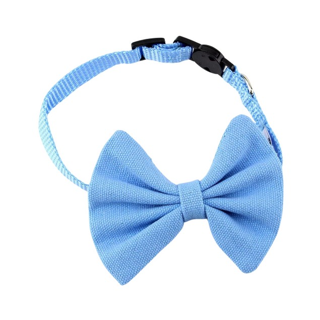 Midlee Bow Tie Cat Collar Canvas