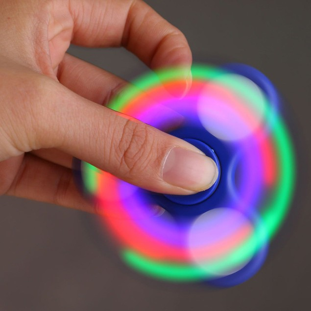 LED Light Fidget Hand Spinner Torqbar Finger Toy EDC Focus Gyro
