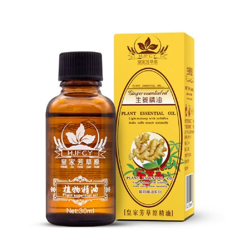 Natural Lymphatic Drainage Ginger Essential Oil Body Massage Therapy 30ML