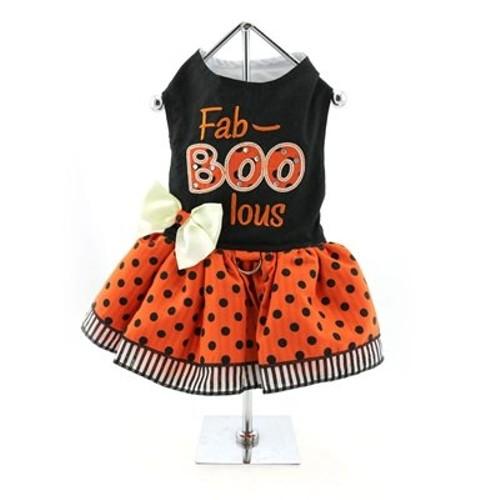 DOGGIE DESIGN Holiday Dog Harness Halloween Dress - Fab-Boo-lous (S)