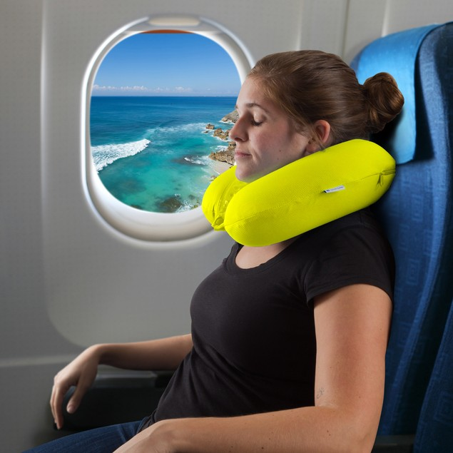 Memory Foam Travel Pillow with Cool Gel