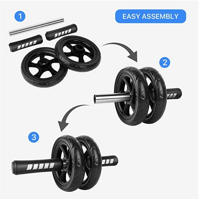 Double Wheel AB Power Roller