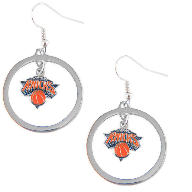 New York Knicks Hoop Logo Earring Set NBA Charm