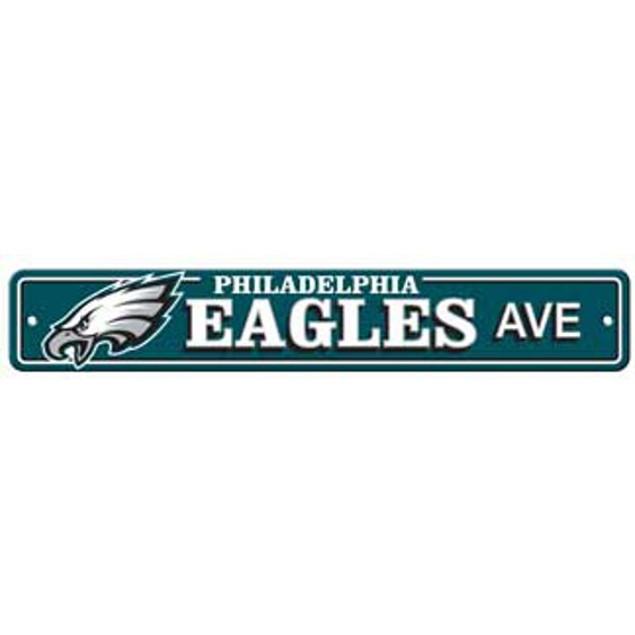 "Philadelphia Eagles Ave Street Sign 4""x24"" NFL Football Team Logo Man Cave"