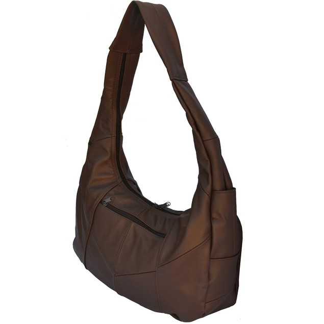 Soft Leather Hobo Shoulder Handbag