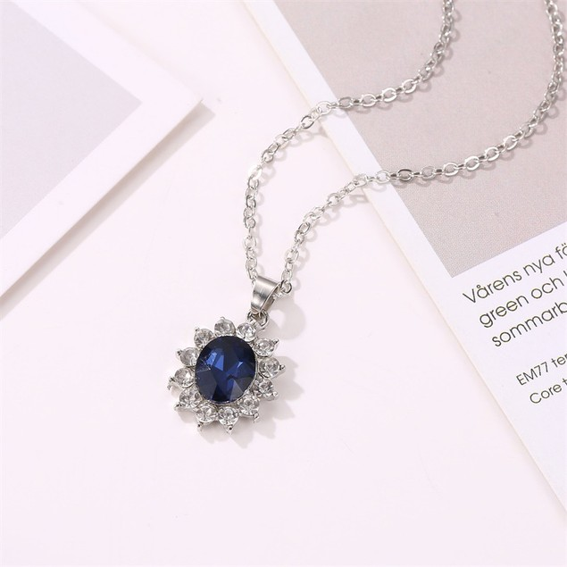 Sapphire Necklace and Earring set