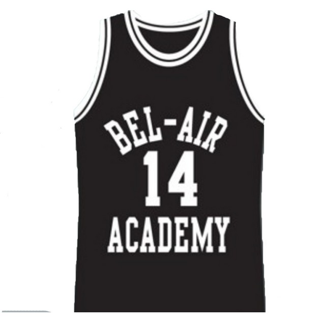 Will Smith #14 Bel Air Black Basketball Jersey