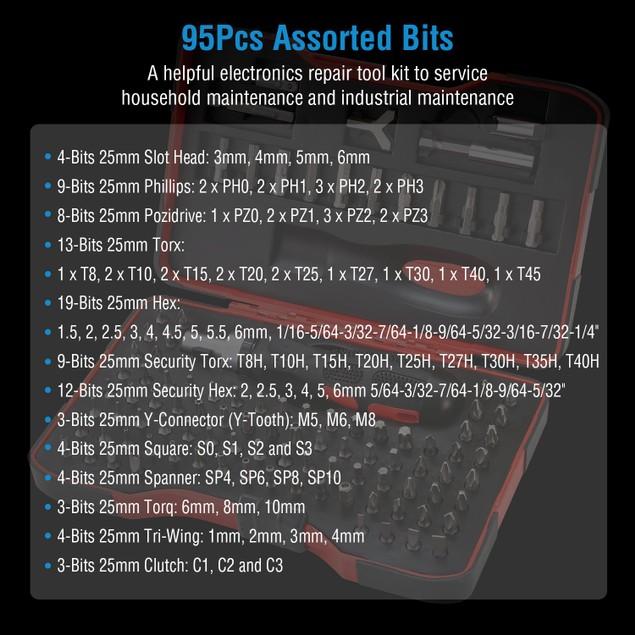 101Pcs Precision Security CRV Screwdriver Bits Set